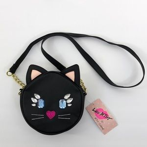 Betsey Johnson Jeweled Cat Face Cross Body Bag
